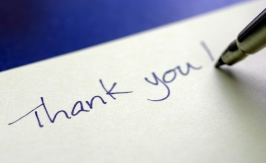 the importance of a thank you note in recruiting