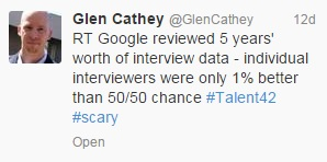 Glen Cathey tweet