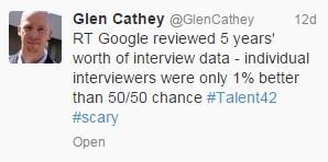 Glen Cathey tweet