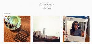 choose atl hashtag